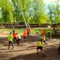 Игра постояльцев в волейбол в реабилитационном наркологическом центре «Горизонт» (Калининград)