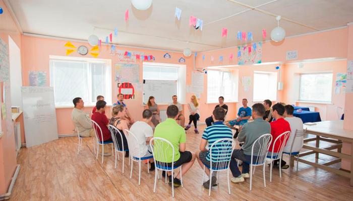 Групповые занятия постояльцев в реабилитационном центре «Согласие» (Ярославль)