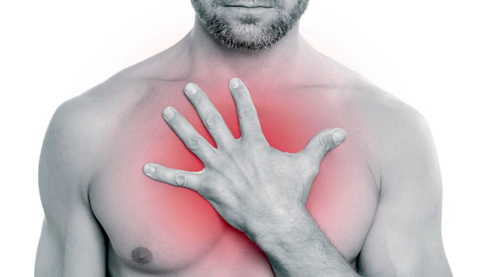 Жжение в грудной клетке как одно из побочных действий после приема Табекса