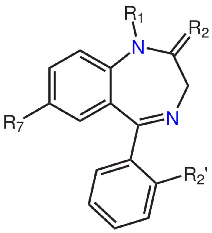 Химическая формула бензодиазепина