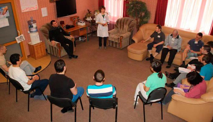 Групповые занятия постояльцев в Центре клинической психологии «Ковчег» (Челябинск)