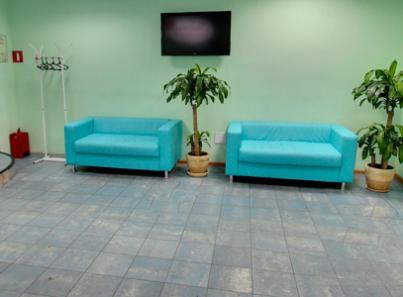 Холл в наркологической клинике «Спасение» (Чита)