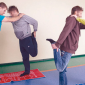 Спортивные занятия постояльцев в реабилитационном центре «Мечта» (Чебоксары)