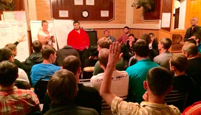 Лекция для постояльцев в реабилитационном центре «Ориентир» (Челябинск)