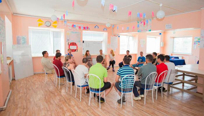Групповые занятия постояльцев в реабилитационном центре «Согласие» (Челябинск)