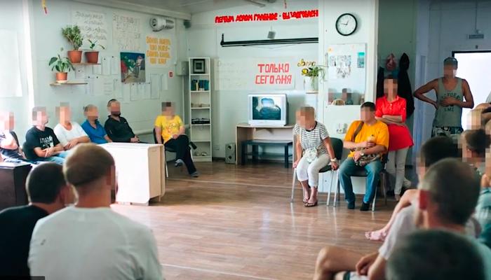 Групповые занятия постояльцев в реабилитационном центре «Становление» (Якутск)