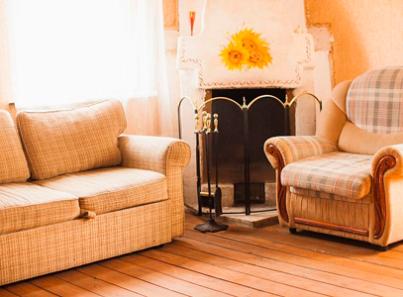 Гостиная в реабилитационном центре «Горизонт» (Хабаровск)