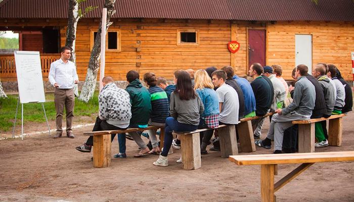 Лекция для постояльцев в реабилитационном центре «Горизонт» (Хабаровск)
