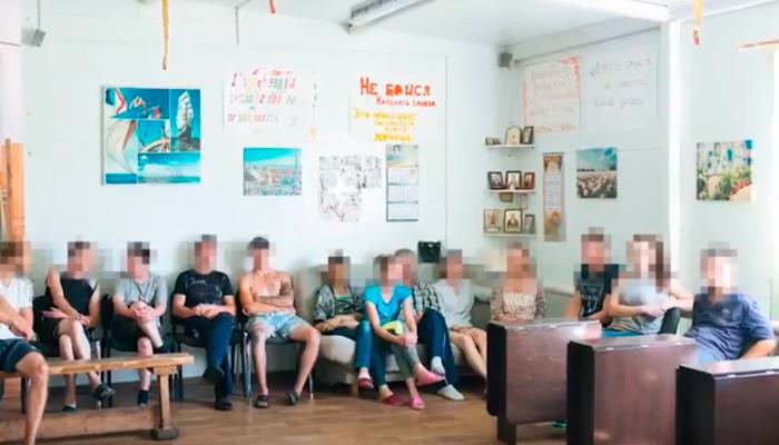 Групповые занятия постояльцев в реабилитационном центре «Становление» (Ханты-Мансийск)