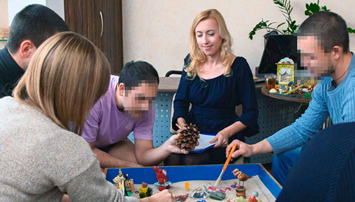 Групповые занятия постояльцев в реабилитационном центре «Мечта» (Тюмень)
