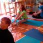 Занятия постояльцев йогой в реабилитационном центре «Вершина» (Уфа)