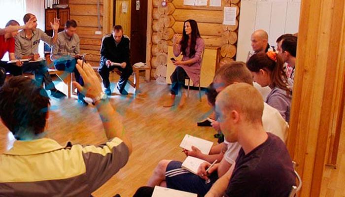 Групповые занятия постояльцев в реабилитационном центре «Вита» (Уфа)