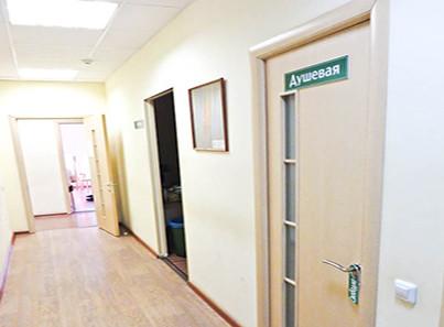 Общий коридор в наркологическом центре «Пирамида» в Владимире
