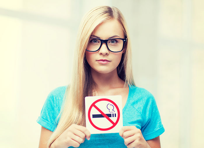 Здоровье волос и организма вцелом требует отказа от курения