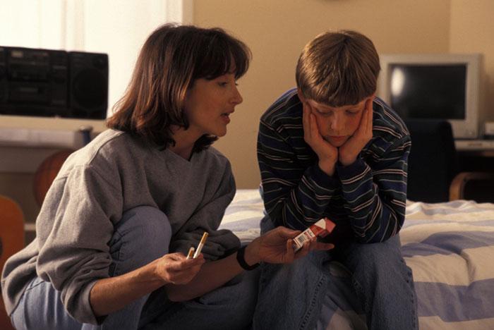 Проявление участия в жизни своих детей поможет не допустить зависимости от курения