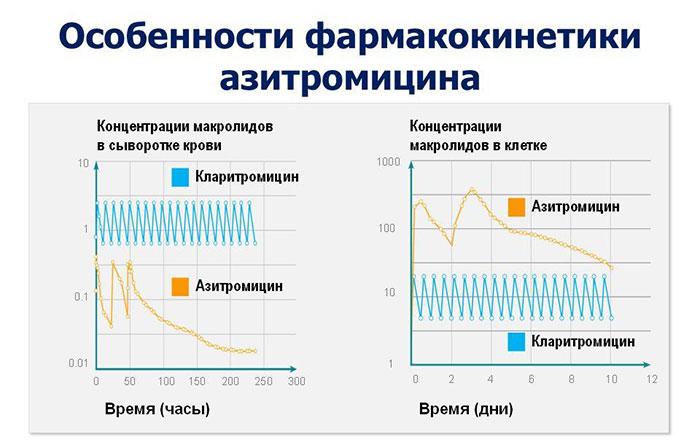 График фармакокинетики азитромицина