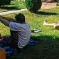 Занятия постояльцев йогой в Центре психологической реабилитации зависимых «Метод» (Харьков)