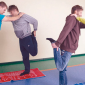 Спортивные занятия постояльцев в реабилитационном центре «Мечта» (Тула)