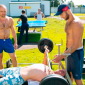Спортивные занятия постояльцев в реабилитационном центре «Становление» (Тюмень)