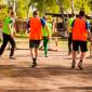 Игра постояльцев в футбол в реабилитационном центре «Горизонт» (Тула)