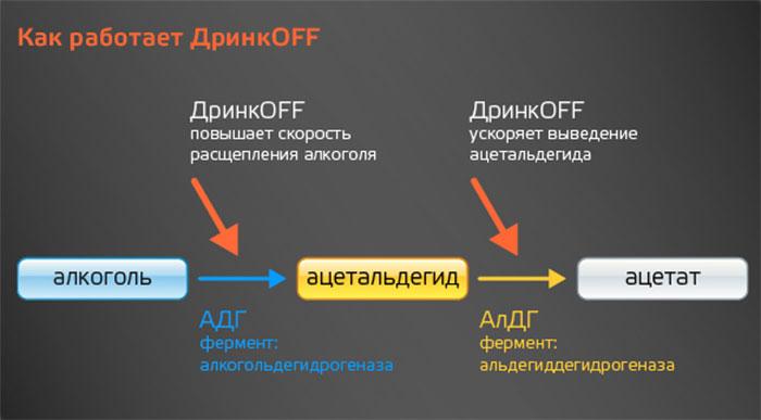 Принцип действия препарата ДринкOFF