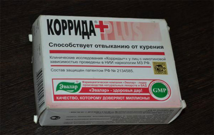 Коррида - таблетки от курения натурального происхождения