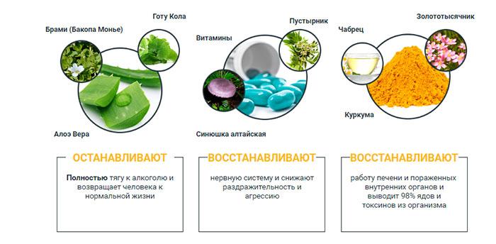 Алко Блокер создан на основе натуральных компонентов