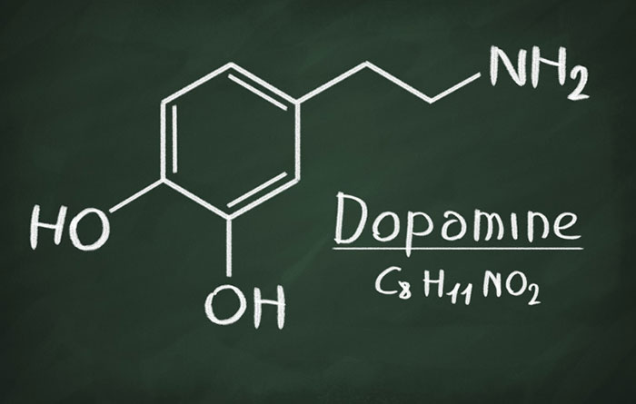 Структурная формула дофамина
