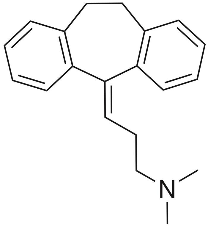 Амитриптилин - структурная формула действующего вещества