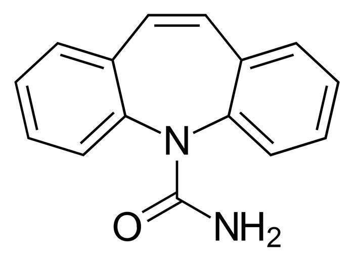 Карбамазепин - структурная формула действующего вещества препарата Финлепсин