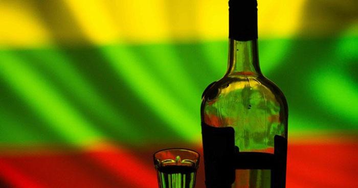 16 литров алкоголя на человека за год выпито в Литве