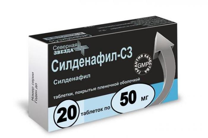 Силденафил - медикаментозное средство, направленное на увилечение потенции
