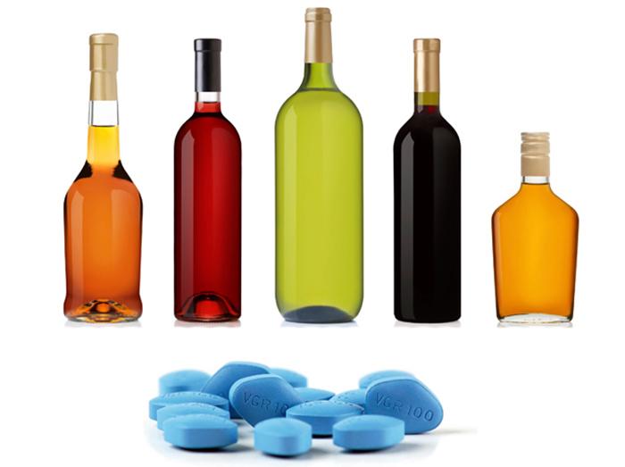 Совмещение Силденафила с алкоголем снижает действие препарата