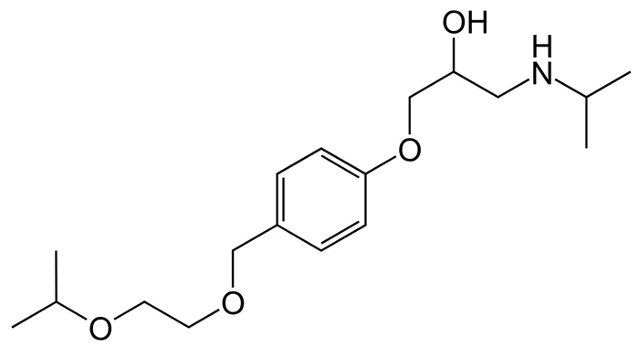 Бисопролол - структурная формула действующего вещества