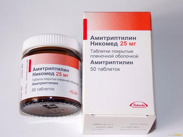 Амитриптилин является транквилизатором с успокоительным эффектом
