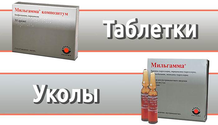 Мильгамма - комбинированный витаминизированный препарат с лидокаином в составе