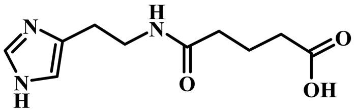 Имидазолилэтанамид пентандиовой кислоты - структурная формула действующего вещества