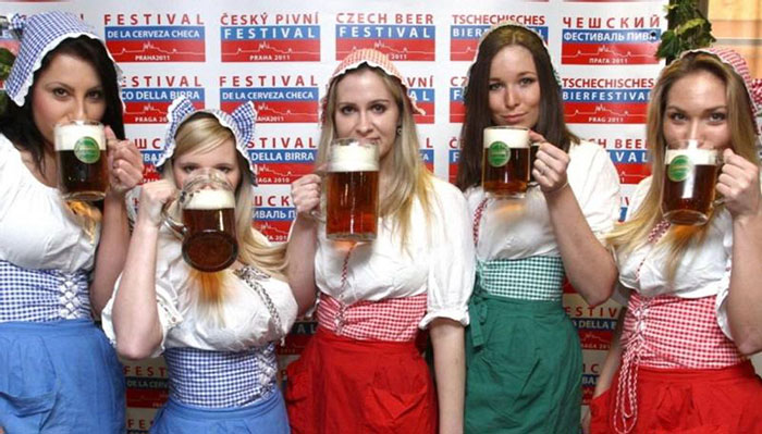 Чехи выпивают 16, литра этила в год на человека