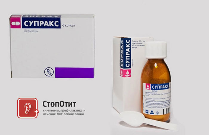 Супракс - антибиотик широкого спектра действия цефалоспоринового ряда 3 поколения