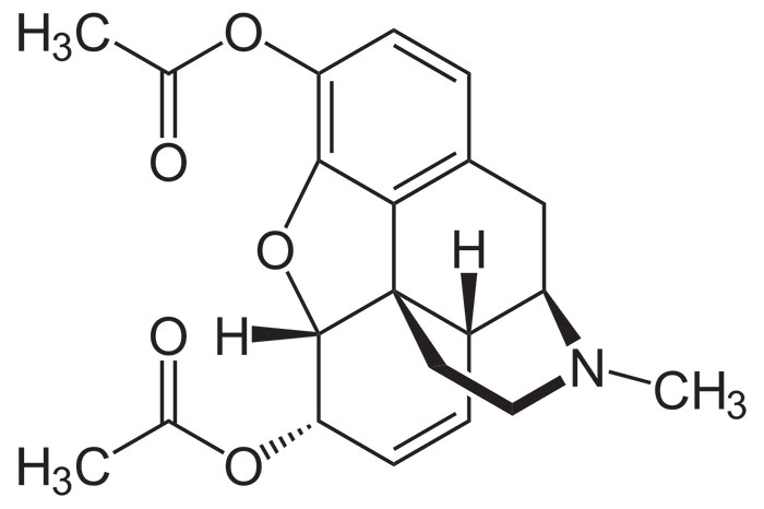 Героин - структурная формула