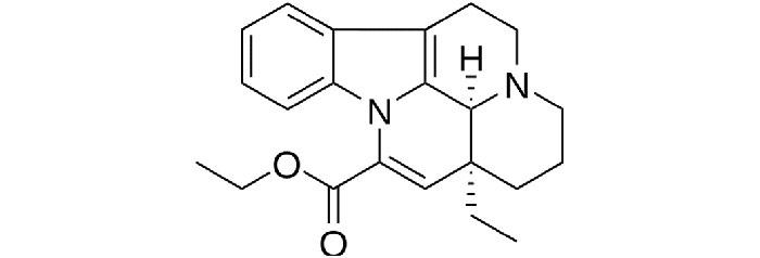 Винпоцетин - структурная формула действующего вещества препарата Кавинтон