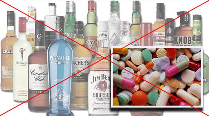 Врачи не рекомендуют совмещать прием Циклоферона и алкоголя