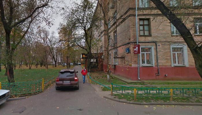 Расположение наркологической клиники «Алкомед» (Москва)
