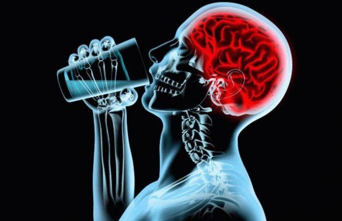 Злоупотребление алкоголем убивает клетки головного мозга