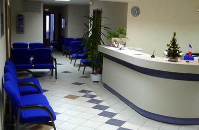 Холл в наркологическом центре «Алкократ» (Москва)