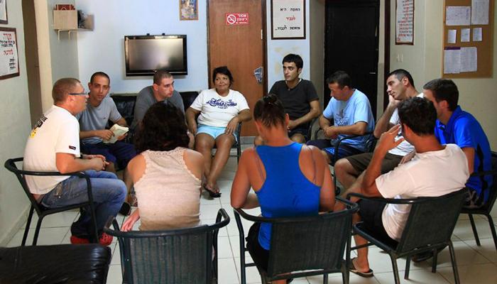 Групповые занятия постояльцев в реабилитационном центре «Ориент-Авант» (Москва)