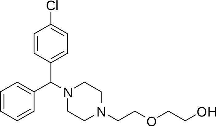Гидроксизин - структурная формула действующего вещества препарата Атаракс