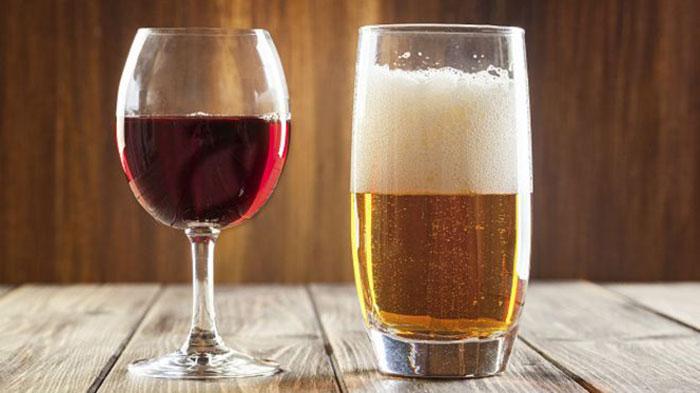 Состояние опьянения от вина наступает быстрее, чем от пива