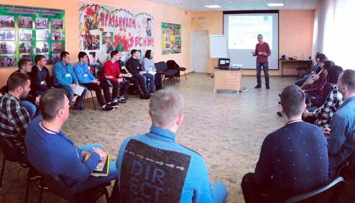 Групповые занятия постояльцев в наркологическом центре «Хелпклиника» (Липецк)