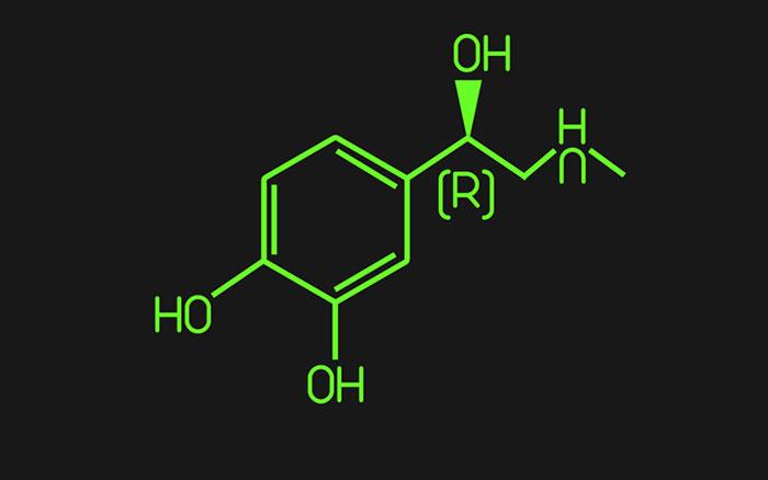 Адреналин - структурная формула гормона